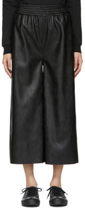 Stella McCartney Black Faux-Leather Mya Trousers