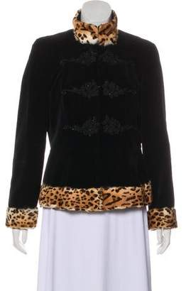 Blumarine Embellished Velvet Jacket