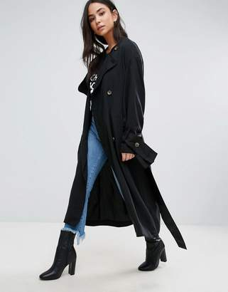 Cheap Monday Flavor Tie Sleeve Trench $214 thestylecure.com