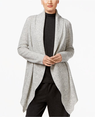 Eileen Fisher Open-Front Shawl-Collar Cardigan $258 thestylecure.com