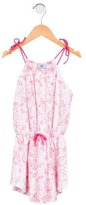 Florence Fancy Girls' Embroidered Floral Dress