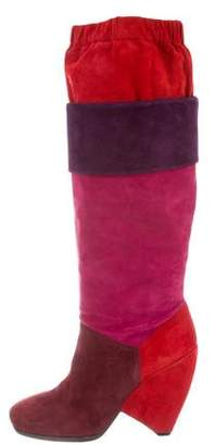 Marc by Marc Jacobs Suede Knee-High Boots