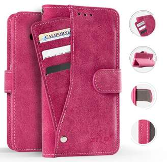 Alcatel A30 Fierce Case, Zizo Slide Out Wallet Pouch - Thin Lightweight Wallet Case w/ Credit Card and ID Holder - Heavy Duty