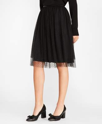 Brooks Brothers Polka-Dot Tulle Skirt
