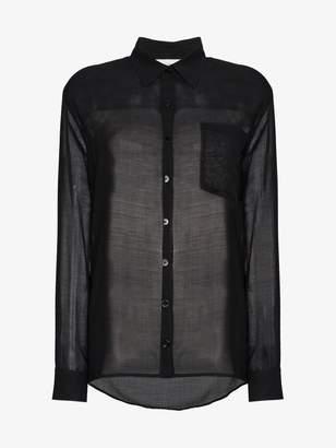 Beau Souci sheer long sleeve button down shirt