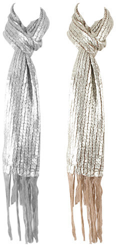 Metallic Knit Scarf