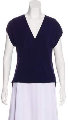 Halston Short Sleeve V-Neck Top