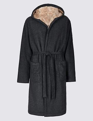 M&S Collection Bonded Fleece Dressing Gown
