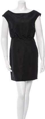 Loeffler Randall Sleeveless Mini Silk Dress