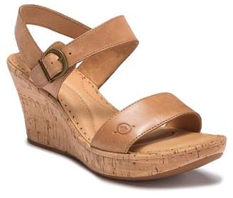 Børn Boulder Leather Cork Wedge (Women)