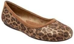 SoftWalk Napa Leopard Print Ballet Flats
