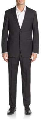Michael Kors Regular-Fit Tonal Check Wool Suit