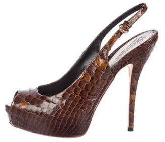 2b7e21aa74 Gucci Python Shoes - ShopStyle