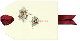 Dempsey & Carroll Merry Christmas Gift Tag Set