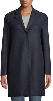 Harris Wharf London Pressed Wool Cocoon Coat