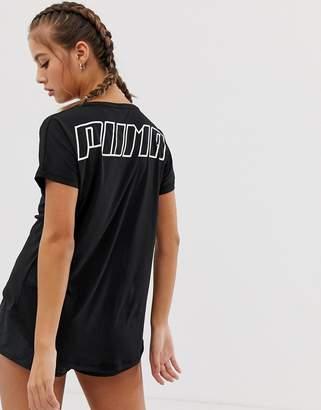 Puma Training Bold Mesh Tee In Black