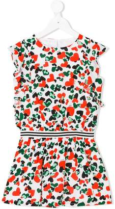 Liu Jo Kids heart-print dress