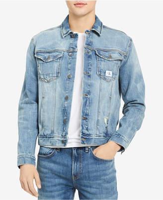 Calvin Klein Jeans Men's Festival Trucker Stretch Denim Jacket