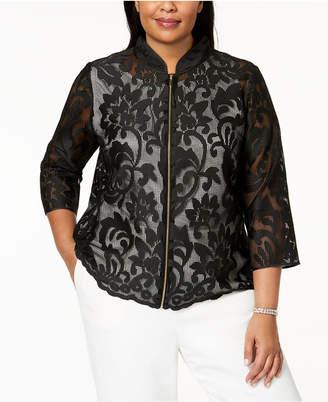 Kasper Plus Size Lace Jacket