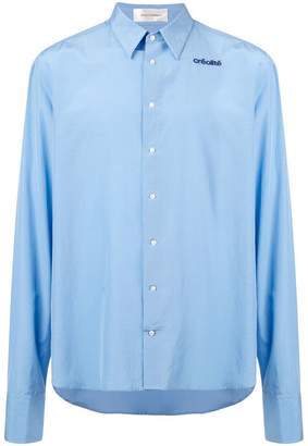 Wales Bonner embroidered detail shirt
