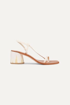 LOQ Isla Leather Slingback Sandals - Cream