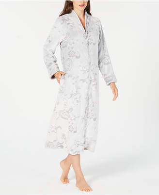 Charter Club Scroll-Patterned Long Zip Robe, Created for Macy's
