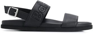 Baldinini embossed logo strap sandals