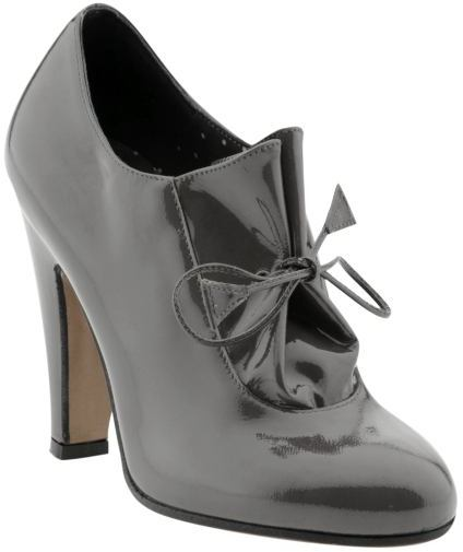 Moschino Cheap & Chic Grey Patent Bootie