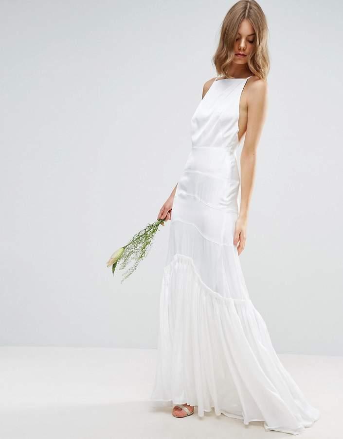 AsosASOS BRIDAL Cami Maxi Dress with Concertina Folding