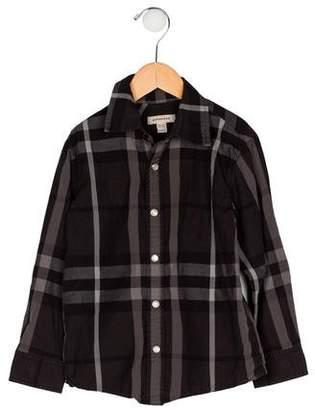 Burberry Boys' Long Sleeve Shirt