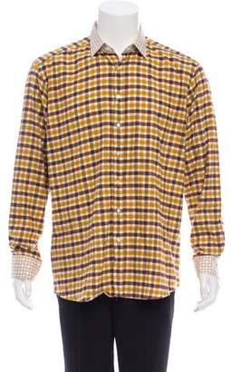 Etro Flannel Gingham Shirt w/ Tags