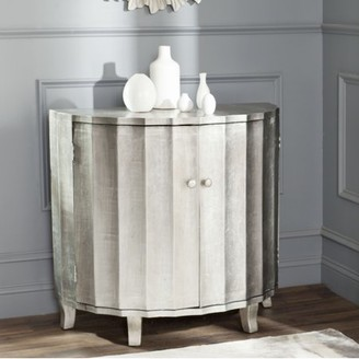 Safavieh Rutherford Demilune Cabinet, Silver Leaf