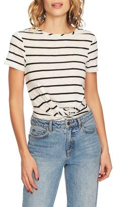 1 STATE 1.STATE Stripe Twist Front Short Sleeve Tee