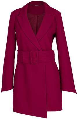 Louise Black Raspberry High Heeled Blazer Dress