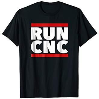 CNC Costume National RUN shirt. machinist g code turner mill tee