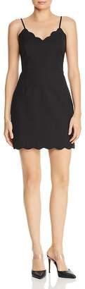 Aqua Scalloped Sleeveless Sheath Dress - 100% Exclusive