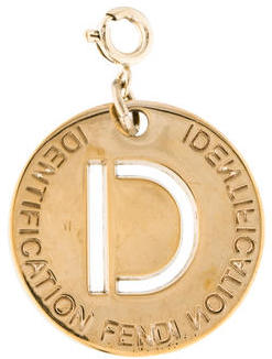 "Fendi Fendi ""D"" Identification Charm"