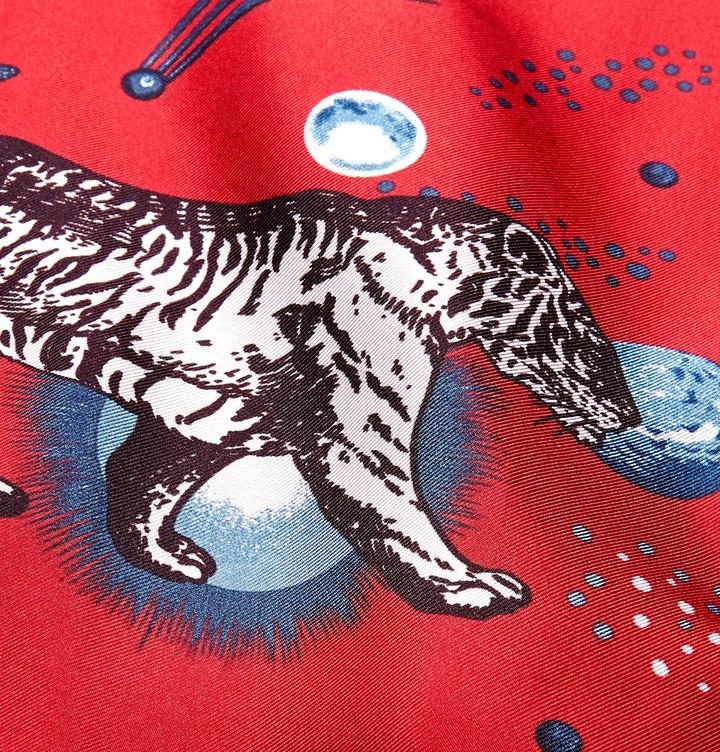 Gucci Space Animals Camp-Collar Printed Silk-Twill Shirt 4
