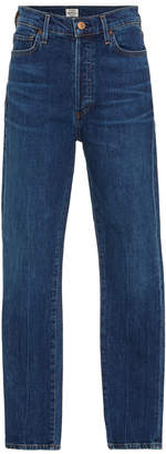 Citizens of Humanity Olivia Cropped High-Rise Slim-Leg Jeans