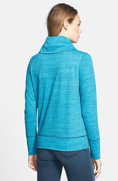 Caslon Space Dye Cowl Neck Top (Regular & Petite)