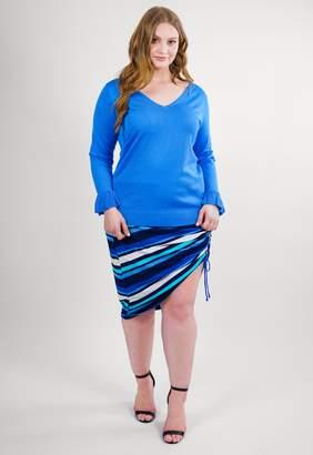 Marée Pour Toi Maree Pour Toi Periwinkle V Neck Sweater Size Small/Large 12/14