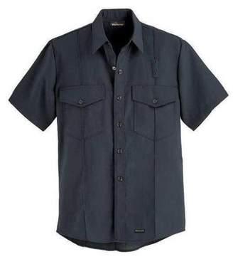 "WORKRITE Workrite Flame Resistant Collared Shirt, Black, Nomex(R), 48"", 740NX45BK"