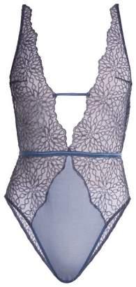 Coco De Mer - Lazuli Lace Bodysuit - Womens - Blue