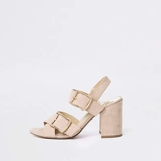 River Island Pink block heel sandals