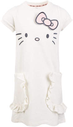 Hello Kitty Little Girls French Terry Embroidered Dress