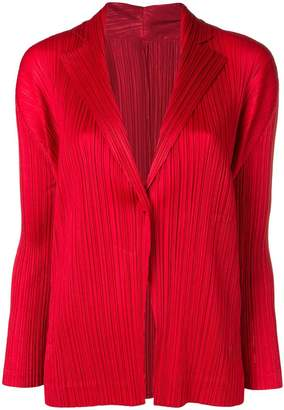 Pleats Please Issey Miyake micro-pleated jacket