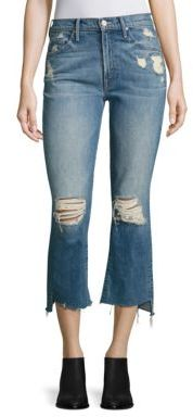 MOTHER Insider Distressed Cropped Step Hem Jeans $248 thestylecure.com