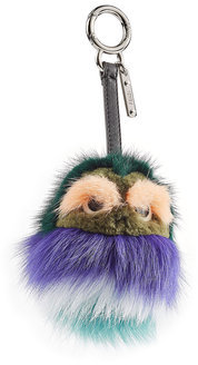 FendiFendi Bag-Bug Key Chain with Mink and Fox Fur