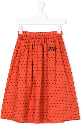 Bobo Choses embroidered polka dot skirt