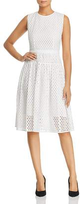 BOSS Dafalia A-Line Eyelet Dress